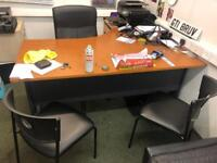 Office desk chairs filing cabinet job lot
