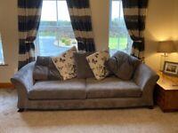 4 & 3 Seater Grey Sofa