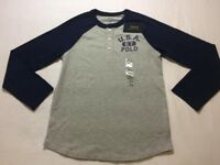 BRAND NEW Ralph Lauren 2017 Kids Boys Age 8-9 USA 1967 Polo Long Sleeve Tshirt Top 15.00 100sales