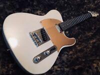 Telecaster electric guitar vintage cream