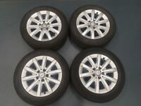 2017 MERCEDES A-CLASS SE ALLOY WHEELS GENUINE 205/55/R16 GOOD CONDITION TYRE'S LIKE NEW