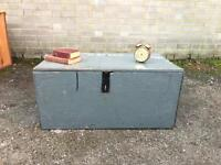 GENUINE VINTAGE TRUNK CHEST WOODEN FREE DELIVERY 🇬🇧