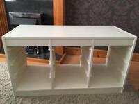 White Ikea Trofast storage unit