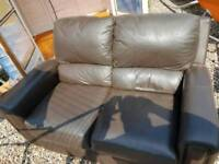 Two seater leather sofa (Free)