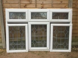 White UPVC Double Glazed Window with Lead Detail
