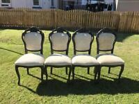 4 x French, antique style chairs