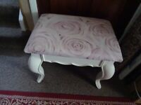Dressing table Stool = French/Italian with Pink top