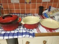 Le Creuset set SOLD-AWAITING COLLECTION