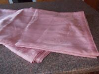 """Pair of new pink curtains 66"""" x 64"""""""