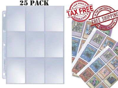 Card Sleeves Collector Binder Cards Album Baseball Yugioh Pokemon Holder Sheets