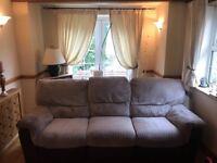 Comfortable 3 seater cord sofa