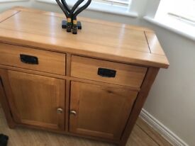 Solid wood sideboard with matching tv unit