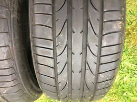 2x Bridgestone potenza 225/50/16 tyres