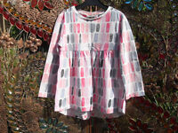 """Next Girls """"Tiled"""" Tunic Top, Age 2-3 Years"""