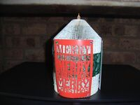 Handmade Book Art Christmas Candle with battery operated tea light