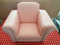 Pink Childrens Arm Chair