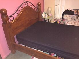 Beautiful solid wood kingsize bed frame
