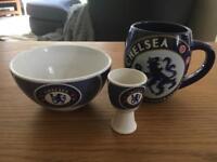 Chelsea bowl, mug, egg cup set