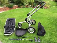 Quinny Buzz 3 Travel System (Pushchair), Black, including genuine Quinny Footmuff