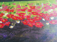 Flower Scene - Decorative Canvas Painting - Collect in Bow