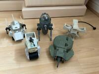 Star Wars 5 x 1980's vintage ships and vehicles