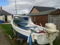 16 ft orkney boat with trailer