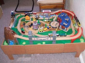 Toys r us Mountain Rock Wooden Train set and Table