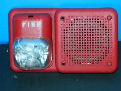 System Sensor Sp2r1224mc Spectralert Fire Alarm Red Strobe Horn Combo