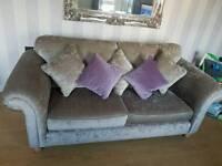 Crushed velvet 3 an 2 seater sofa