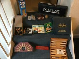 Selection of traditional board games