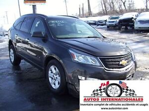 2015 Chevrolet Traverse LS 4X4 V6 3.6L 8 PASSAGERS GR ELECT CAME