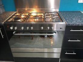 ELBA 5 burner dual fuel cooker