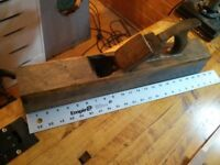 "Large vintage plane (Jointer?), 21"" long, W. Greenslade"
