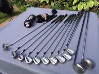 Mizuno MX-17 Full set 3iron-SW, Callaway 1 Wood, 3+Wood, Hippo putter, Izzo golf bag/stand