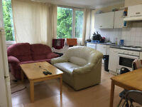 Twin room available in a clean flat
