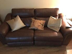 Leather suite recliners 3 + 1