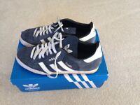 Adidas Originals Samba Trainers - UK Size 8.5 (small sizing, hardly worn).