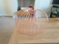 Rose Gold wire effect Lightshade