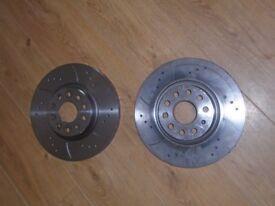 seat / audi/ vw 312mm 5x112 discs brand new still in box