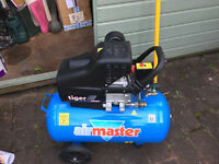 Airmaster Tiger 11/510 2.5 HP Air Compressor -Used twice - incl free hose!