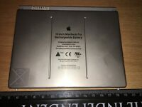Apple 15-inch MacBook Pro Rechargeable Battery - Model No: A1175 for sale