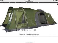5 man tent plus front extension
