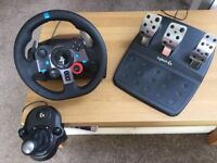 Logitech g29 steering wheel/pedals/shifter PC/PS3/PS4