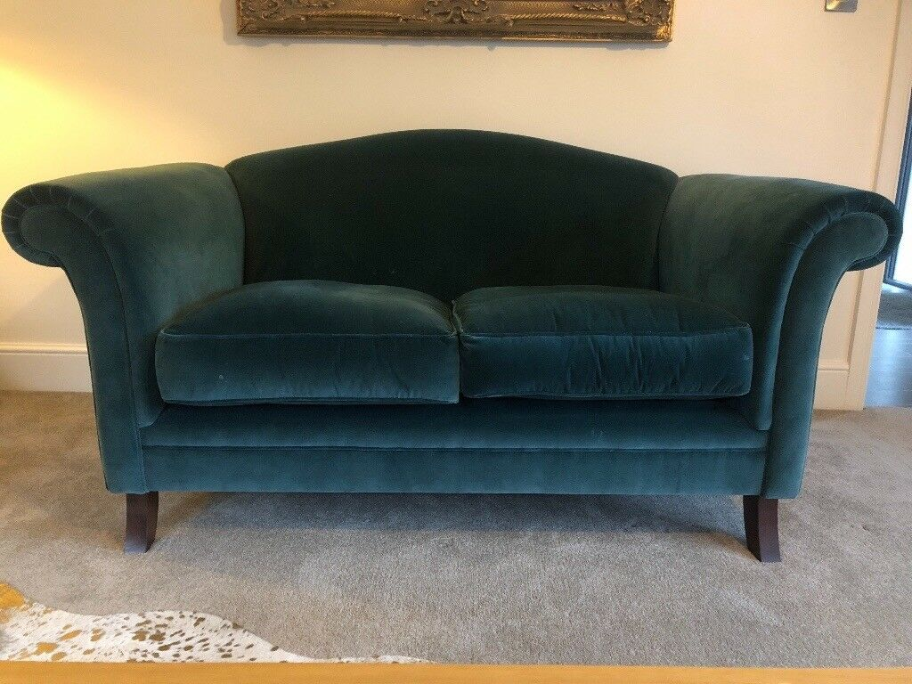 Laura Ashley Gloucester Chester Velvet Marine Sofa In