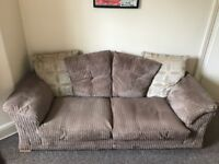 Three seater sofa with stain resistant coating, nutmeg colour - excellent condition