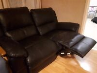 2 seater leather sofa for sale £80