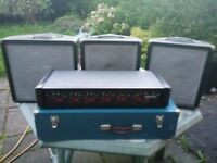 Carlsbro 300watt PA amp & 3 speakers (can also be used as monitors), cables included.