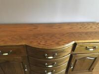 Oak gloss finish dining room sideboard