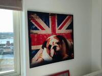 British bulldog canvas art