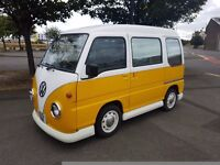 SUBARU SAMBER MINI VW LOOKALIKE YELLOW/WHITE - FROM JAPAN - FRESH IMPORT - UK REGISTERED AND MOT